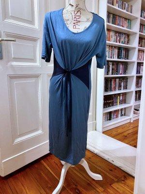 bpc bonprix collection Sukienka z dżerseju błękitny-ciemnoniebieski