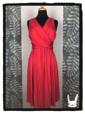 Anthropologie Jersey Dress red viscose