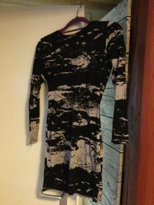 Hennes & Mauritz Vestido de tubo blanco-negro Algodón