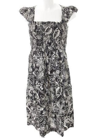 Jerseykleid schwarz-weiß Textil-Applikation