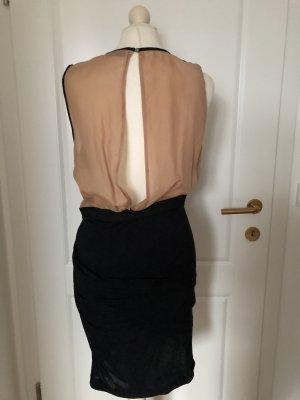 Jerseykleid Seide Rückendekolette