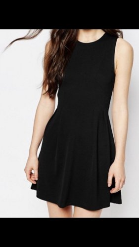 Pimkie Vestido de tela de jersey negro