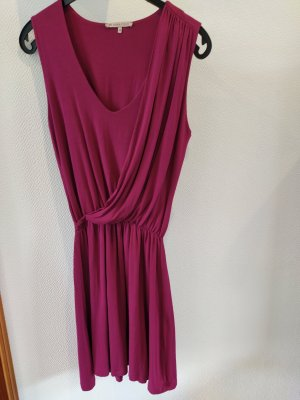 Jerseykleid Wasserfall Tunika Pink