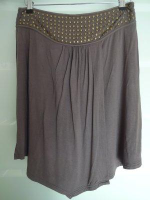 Snob Asymmetry Skirt grey brown