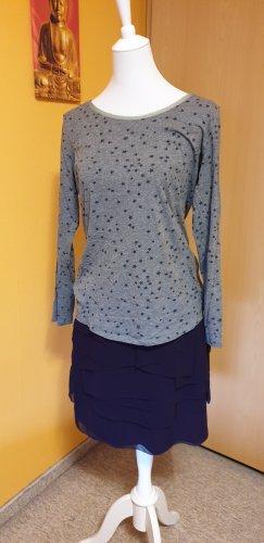 Jerseyshirt mit Sternchenmuster und Netzbesatz, Größe XL, von Promod