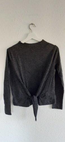 Zara Camicia cropped grigio scuro-antracite