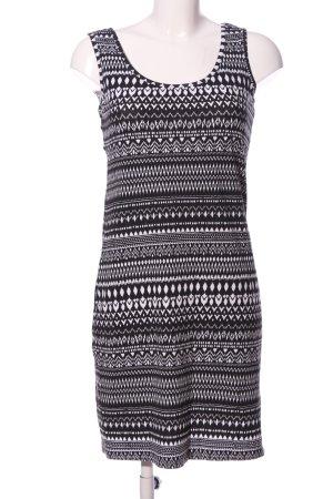 Jessica C&A Minikleid schwarz-weiß grafisches Muster Casual-Look