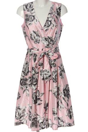 Jessica Howard A-Linien Kleid pink-hellgrau Allover-Druck Elegant