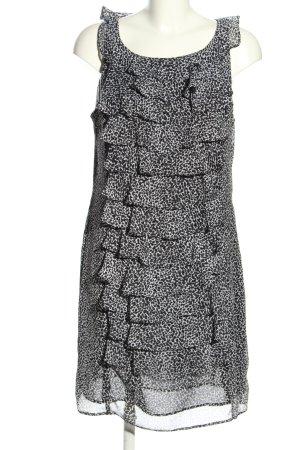 Jessica Howard Chiffonkleid schwarz-weiß Allover-Druck Casual-Look