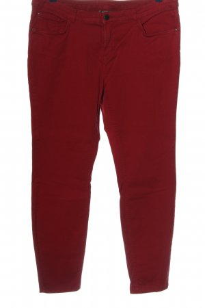 Jessica Lage taille broek rood casual uitstraling