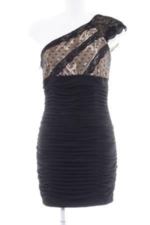 Jessica McClintock Cocktailkleid schwarz-goldfarben Elegant