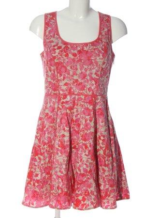 Jessica Simpson Abito linea A rosa-bianco sporco stampa integrale elegante