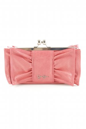 Jessica Simpson Clutch pink-goldfarben Animalmuster Elegant