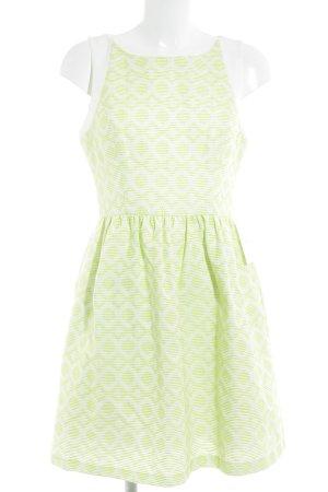 Jessica Simpson Cocktailkleid weiß-neongrün abstraktes Muster Party-Look