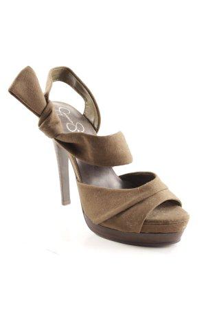Jessica Simpson High Heel Sandaletten olivgrün-dunkelbraun Elegant