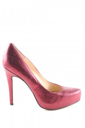 Jessica Simpson High Heels pink Glanz-Optik