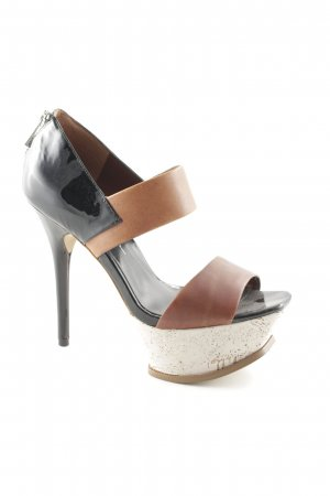 Jessica Simpson High Heels hellbraun-schwarz Elegant
