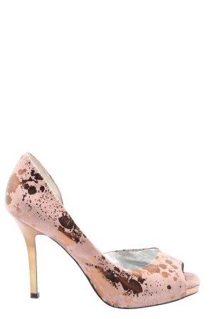 Jessica Simpson Peeptoe Pumps pink-goldfarben Elegant