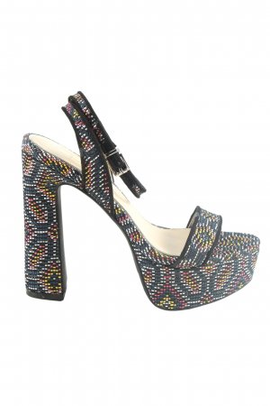 Jessica Simpson Plateau-Sandaletten abstraktes Muster Elegant