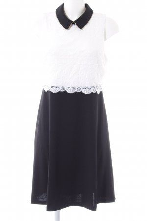 Jessica Simpson Abito in pizzo nero-bianco elegante