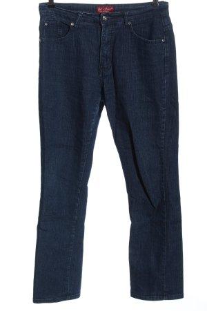 Jet-Line Jeans taille haute bleu style décontracté