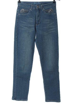 Jet-Line Jeans met rechte pijpen blauw casual uitstraling