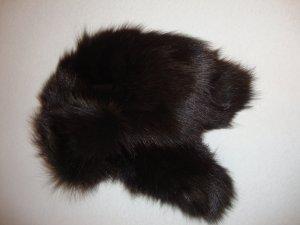 Jet Set Fur Hat black brown