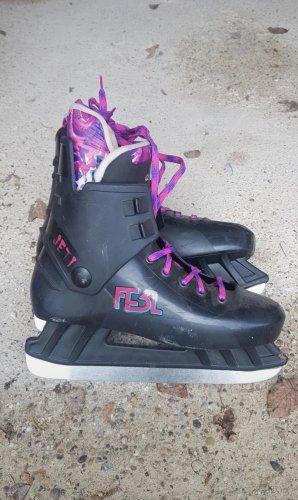 Buty zimowe czarny-różowy