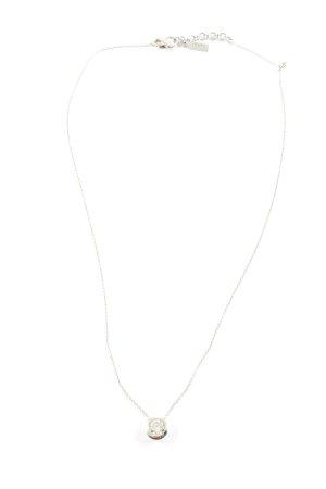 Jette Colliers ras du cou argenté imprimé avec thème élégant