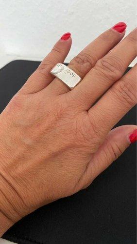 Jette Joop Breiter Ring eckig 925 Silber Massiv