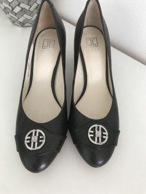 Jette Joop Chaussure à talons carrés brun-brun foncé cuir
