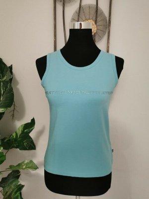 Jette Joop Damen Tanktop Shirt Top Achselshirt Strass blau Größe 40