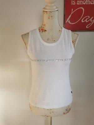 Jette Joop Damen Tanktop Shirt Top Achselshirt Strass weiß Gr. 40