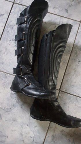 Jette Joop Stivale cuissard nero Pelle