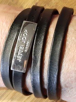 Jette Joop Collier incrusté de pierres noir-argenté