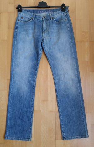 Jette Jeansy z prostymi nogawkami stalowy niebieski