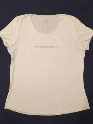 Jette Joop Camiseta blanco-color plata tejido mezclado