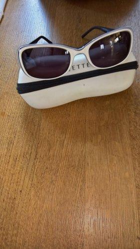 Jette Joop Ovale zonnebril zwart-wit kunststof