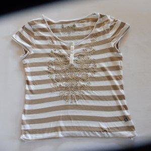 Jette Joop T-Shirt Streifen und üppige Stickerei Casual-Look