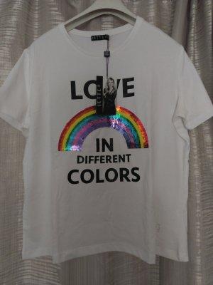 jette JOOP tshirt Regenbogen rainbow love Pailletten Gr 48 (eher 44/ 46)