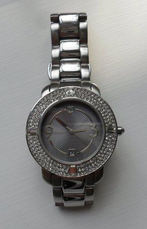 Jette Joop Horloge met metalen riempje zilver-lichtgrijs Metaal