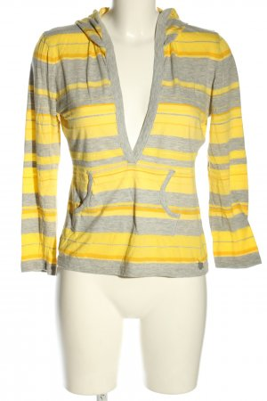 Jette Camicia con cappuccio grigio chiaro-giallo pallido motivo a righe