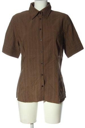 Jette Camicia a maniche corte marrone motivo a righe stile casual
