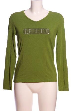 Jette Langarm-Bluse grün Casual-Look