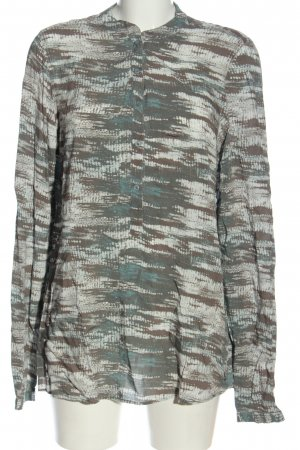 Jette Langarm-Bluse Allover-Druck Casual-Look