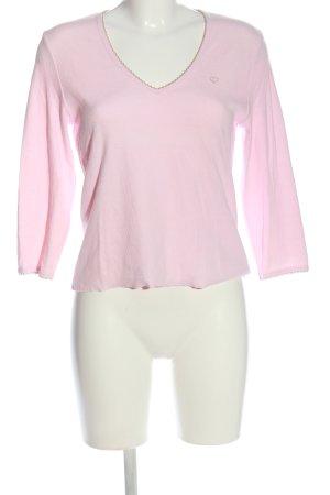 Jette Langarm-Bluse pink Motivdruck Casual-Look