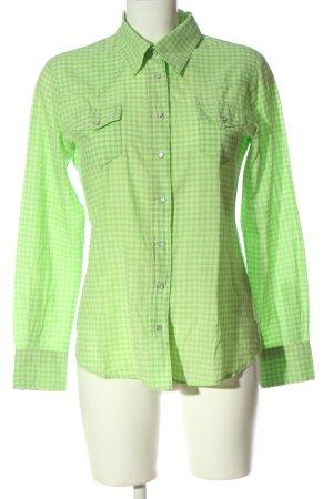 Jette Langarmhemd grün Karomuster Casual-Look