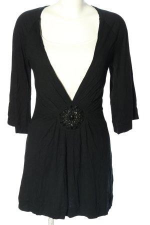 Jette Langarmkleid schwarz extravaganter Stil