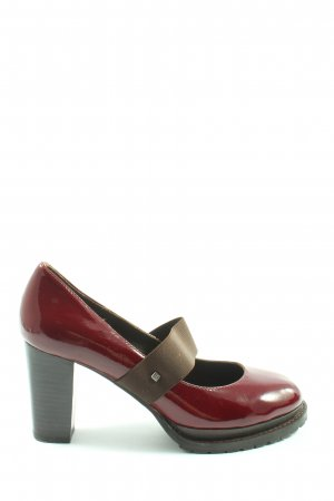 Jette Escarpins Mary Jane rouge-brun imprimé avec thème style décontracté
