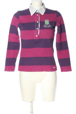 Jette Polo-Shirt pink-lila Schriftzug gestickt Casual-Look